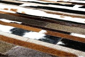 black and white zigzag rug brown baby blue rectangular area