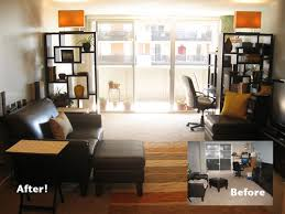 office in living room. creating a large living room into and office space in