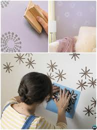 awesome diy stamp stencil wall painting instruction diy wall painting ideas techniques tutorials with simple wall painting patterns