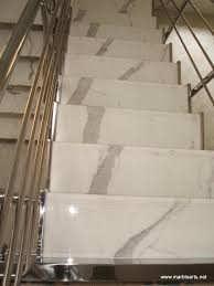 Statuary Vein marble staircase