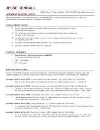 Resume Lpn Resumes Templates Examples Qualifications Summary