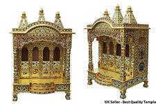 indian temple designs for home. handmade golden minakari meena puja pooja mandir hindu temple 24\u201dw x 18\u201dd indian designs for home