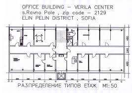 Office Building Plans Floor Plans Of Office Building Near Sofia