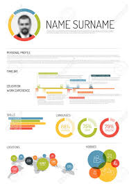 Original Resume Template Vector Original Minimalist Cv Resume Template With Lot Of
