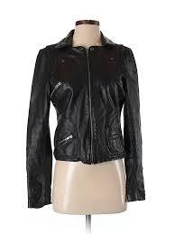 pin it black rivet women leather jacket size s