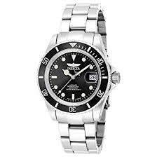 invicta men s pro diver automatic watch black dial analogue invicta men s pro diver automatic watch black dial analogue display and silver stainless steel bracelet