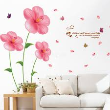 flower wall stickers living room bedroom art decals for flipkart living room with post