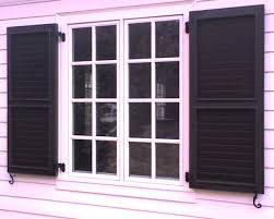 Exterior Contemporary Exterior Shutters With Faux Exterior Window - Faux window shutters exterior