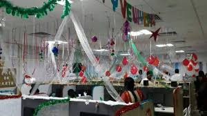 christmas bay decoration at office