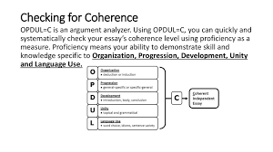 how to write an essay презентация онлайн  checking for coherence