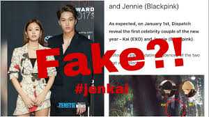 BLACKPINK's Jennie and EXO's Kai are dating?! Proof of fake news?! - YouTube