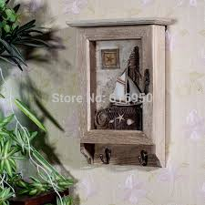 Decorative Key Boxes Key Box Mediterranean European Style Wood Wall Hanging Key Case 49