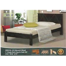 GREEN HOME SB 123 Meranti Wooden Single Bed Frame ( Cappuccino ) ISP ...