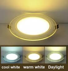round tri color led panel light 6watts