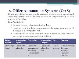 office automated system. 8 5. Office Automation Systems Automated System I