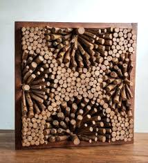 teak root discs wall art
