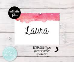Avery Nametag Blank Name Tags Guest Name Tags Avery Adhesive Name Tags Watercolor Name Tags Fits Avery White Adhesive Name Badges 5395