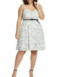 City Chic Size Chart City Chic Open Rose In Petite Floral Fit And Flare Dress