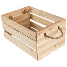 wood crate furniture. Wood Crate With Rope Handles - 1012455 Furniture