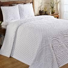 white chenille bedspread. Unique White Trevor Chenille Bedspread Set Touch To Zoom And White N