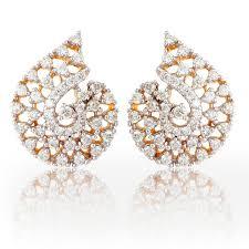 Diamond Earrings Traditional Designs Symphony Design Diamond Earrings