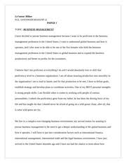 essay contrasting male and female bosses nole williams egl  2 pages essay on business management
