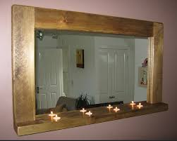 Rustic Wood Framed Mirrors Any Size Large Or Small With Comfortable Mirror  In Addition To 19