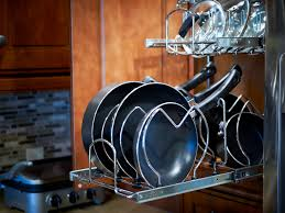 Kitchen Storage For Pots And Pans Under Cabinet Pot And Pan Organizer Cabinet Gallery