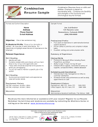 Template Combined Format Resume Example Functional Template Hybrid