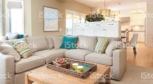 Open Concept Modern Family Room Den And Kitchen Design Royalty Free Stock  Photo