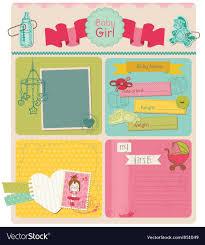 How To Design A Scrapbook Scrapbook Design Elements Baby Girl Cute Set