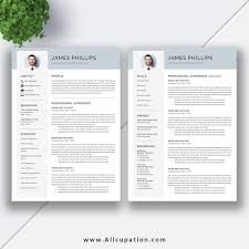 Creative Resume Template Modern Cv Template Word Cover Letter
