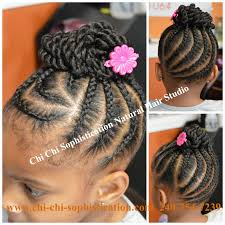 Chi Hair Style cornrows & twist bun for children naturalhair texturedhair 4575 by wearticles.com