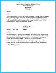 Sample Resume Teacher Assistant Cover Letter Example For Awesome