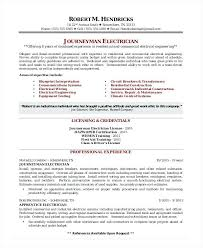 Sample Resume For Electrician Stunning Residential Electrician Resume Residential Electrician Resume Skills