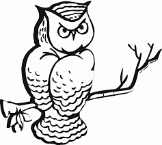 Small Picture Coloring Pages Draw An Owl Coloring Page