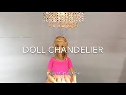 diy how to make doll chandelier miniature dollhouse crafts