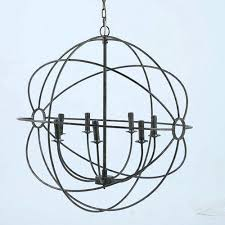 iron orb chandelier global gatherings taupe iron orb chandelier foucaults iron orb chandelier large
