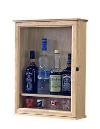 liquor display cabinet fine wood displays