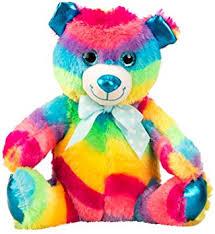 Brubaker Small Rainbow Bear Cuddly Soft Toy With Glitter Eyes 10