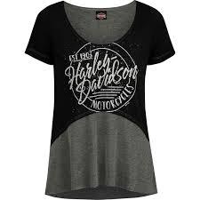 harley davidson women s fashion scoop neck hi low t shirt