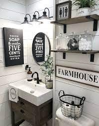5 out of 5 stars. 50 Awesome Diy Farmhouse Wall Decoration Ideas Bathroom Farmhouse Style Farmhouse Bathroom Decor Small Bathroom Decor