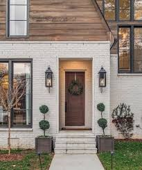 Exterior white brick and eood