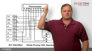 wiring of a two stage heat pump youtube Carrier Heat Pump Schematic Diagrams wiring of a two stage heat pump