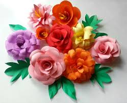 Flower Paper Craft Diy Paper Flowers Folding Tricks 5 Steps With Pictures