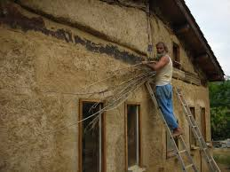 Week   Ecobuilding In The Pyrenees Natural Painting - Plastering exterior walls