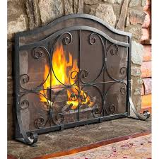 gas fireplace screen single panel iron fireplace screen heatilator gas fireplace screen replacement