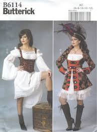 Pirate Costume Pattern Adorable Butterick Pattern B48 Misses Pirate Costume Size 4848 EBay