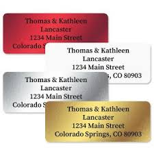 silver address label foil address labels metallic gold silver current catalog