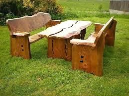 wooden outdoor furniture an example of our wooden garden furniture a table and benches made from